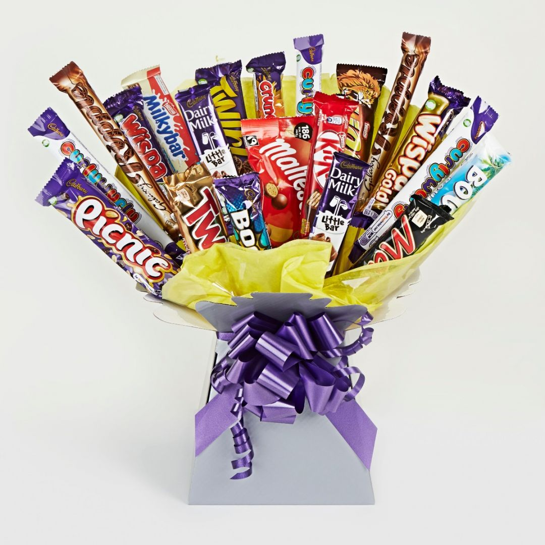Large Chocolate Bouquet Gifts Sweets Chocolate Hampers Hampers Com