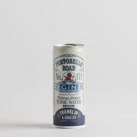 Portobello Road Gin with Franklin & Sons Natural Indian Tonic Water 250ml