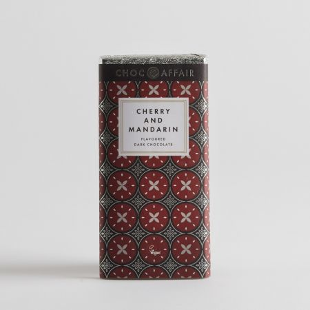 Cherry & Mandarin Flavoured Dark Chocolate Bar (90g)