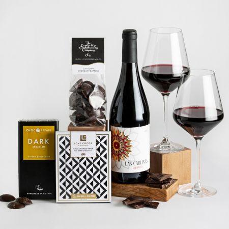 Father's Day Red Wine & Dark Chocolate Gift Box