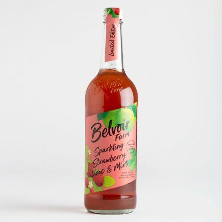 75cl Belvoir Sparkling Strawberry, Lime & Mint