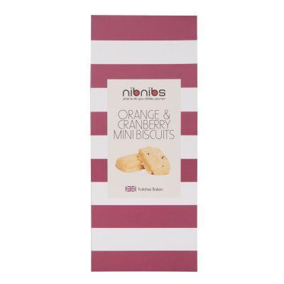 100g Nibnibs Orange and Cranberry Mini Biscuits