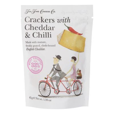 45g Fine Cheese Co Crackers with Cheddar and Chilli