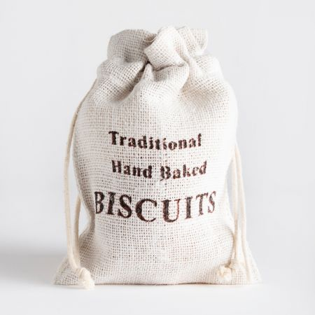 125g Farmhouse Biscuits Lemon Biscuits in a Hessian Bag