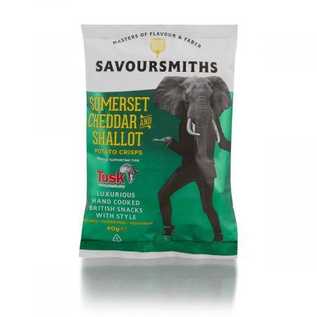 40g Savoursmiths Somerset Cheddar Shallot Crisps