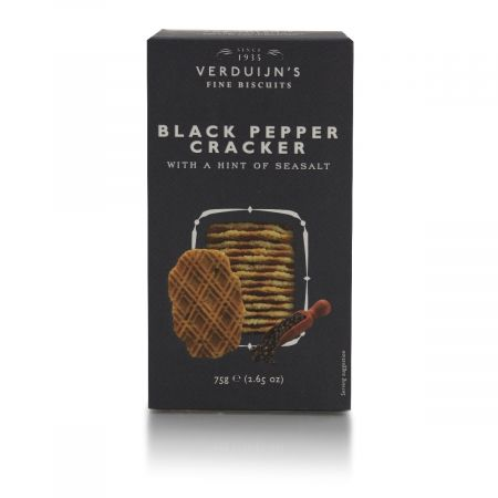 75g Verduijn's Savoury Black Pepper & Seasalt Crackers