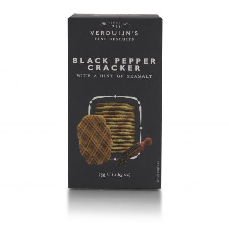 75g Verduijns Savoury and Black Pepper Wafers