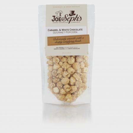 80g Joe & Sephs Caramel and White Chocolate Popcorn