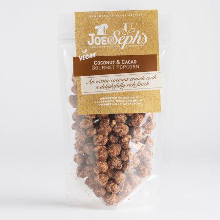 80g Joe & Sephs Vegan Coconut and Cacao Popcorn