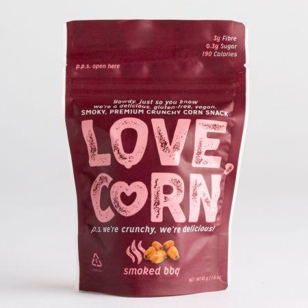 45g Love Corn Smokey BBQ flavour