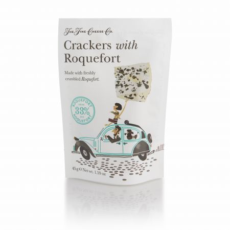 45g Fine Cheese Co Crackers with Roquefort