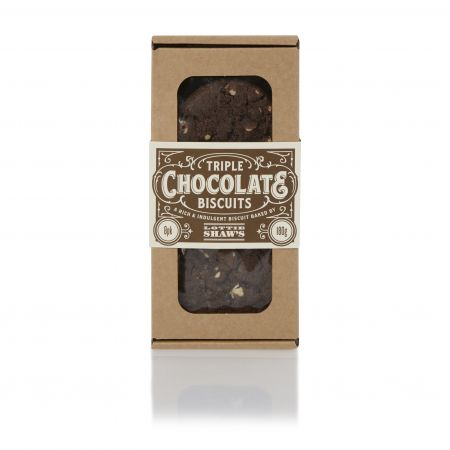 180g Lottie Shaw Triple Chocolate Biscuits
