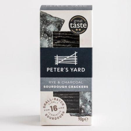 Peters Yard Rye & Charcoal Sourdough Crackers, 90g