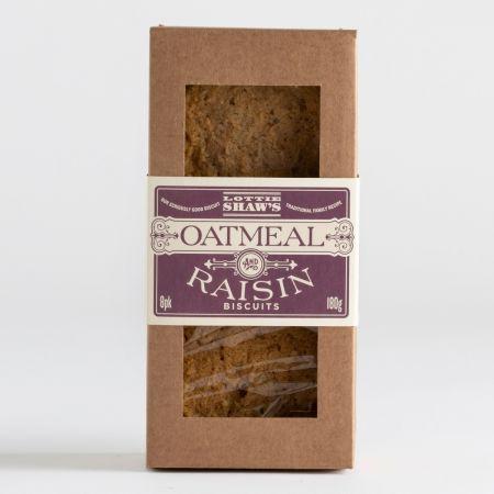 180g Lottie Shaw Oatmeal & Raisin Biscuits