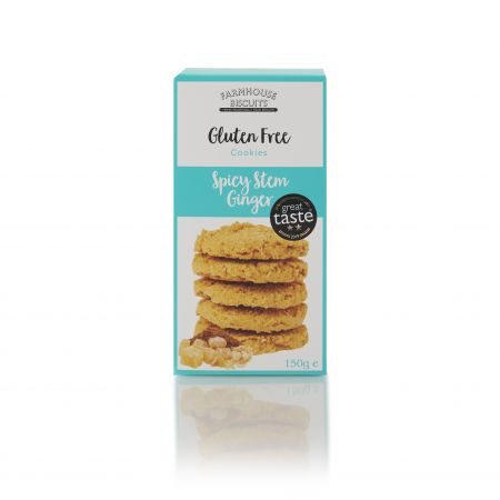150g Farmhouse biscuits Gluten Free Spicy Stem Ginger