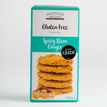 150g Farmhouse biscuits Gluten Free Spicy Stem Ginger