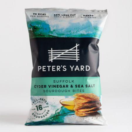 Peter's Yard Suffolk Cyder Vinegar & Sea Salt Sourdough Bites 90g