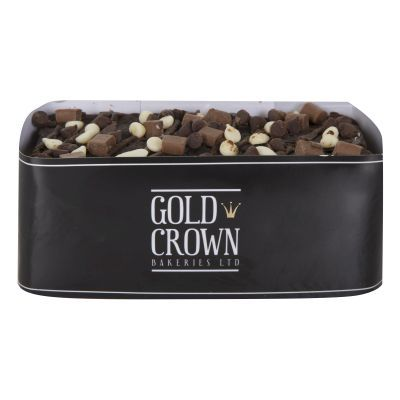 350g Gold Crown Decorated Chocolate Cake