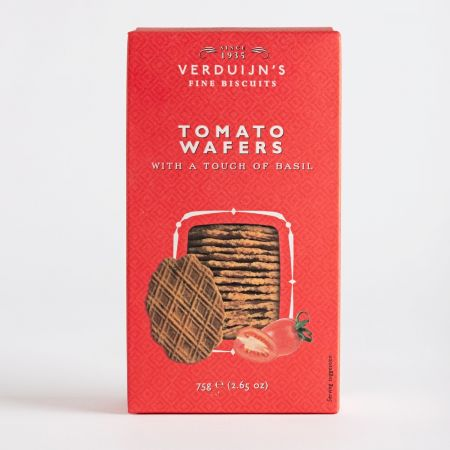 Verduijns Tomato Wafers with Basil, 75g