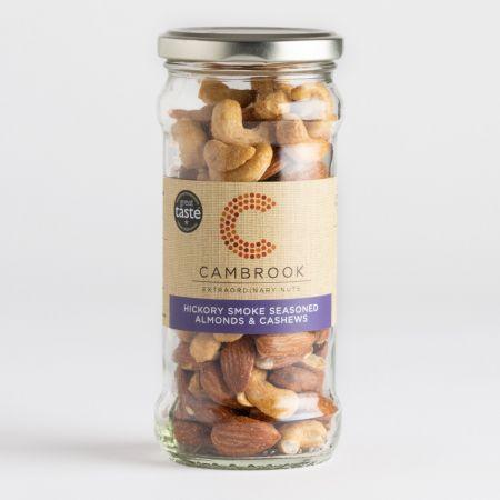 Hickory Smoke Seasoned Almonds & Cashews Jar 180g