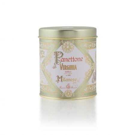 100g Amaretti Virginia Mini Traditional Panettone - Gold Nostalgic Tin