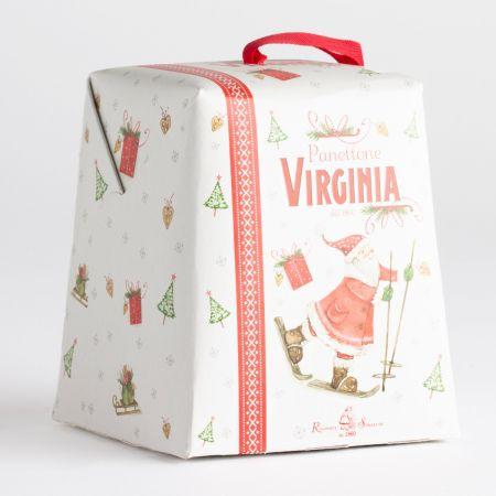 100g Amaretti Virginia Mini Traditional Panettone in Santa Claus Box