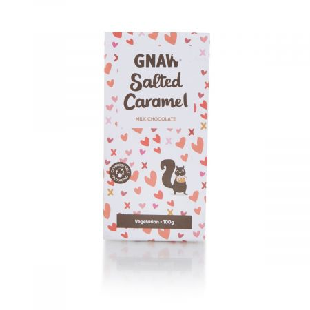 Gnaw Salted Caramel Chocolate Bar, 100g