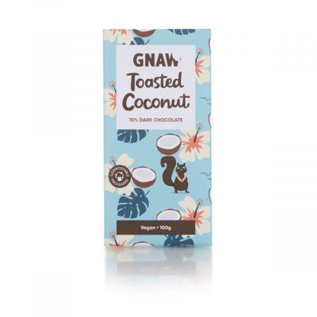 Gnaw Dark Chocolate Bar with Coconut, 100g