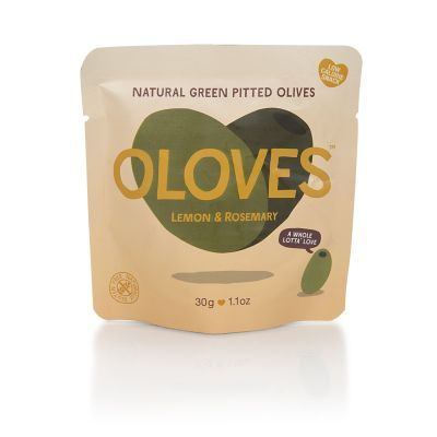 Oloves Green Olives with Lemon and Rosemary 30g
