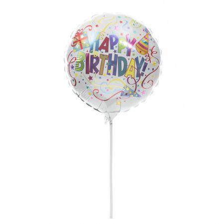 Metallic Happy Birthday Balloon