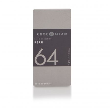 65g Choc Affair Peru 64 Dark Chocolate Bar