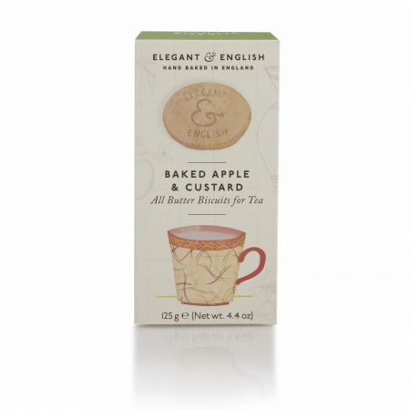 125g Elegant and English Baked Apple & Custard Biscuits