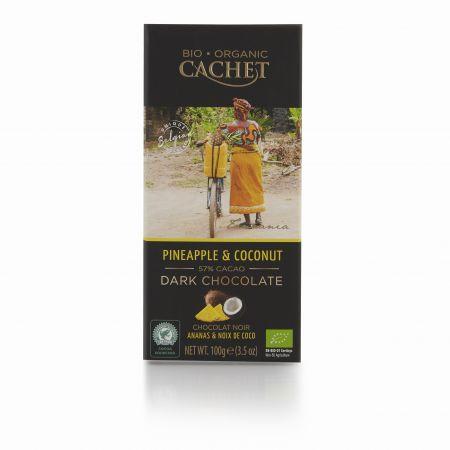 100g Cachet Pinapple & Coconut Chocolate Bar