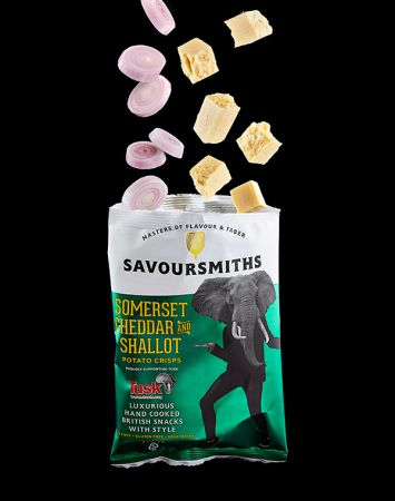 40g Savoursmiths Somerset Chedder Shallot Crisps