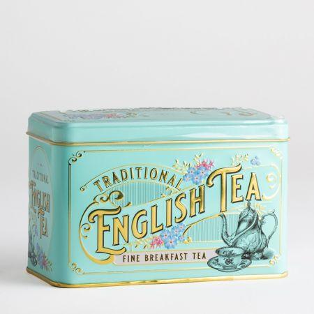 80g Traditional English Tea Tin (Turquoise)