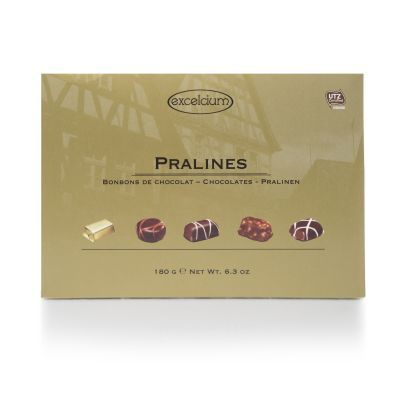 Excelcium Assorted Pralines in a Gold Box 180g