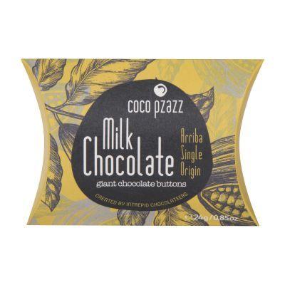 24g Coco Pzazz Milk  Chocolate Giant Chocolate Buttons