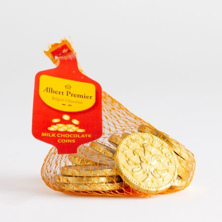 75g Gold Foiled Milk Chocolate Coins