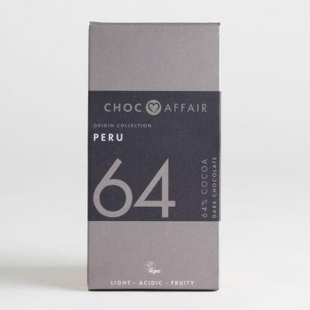 65g Choc Affair Peru 64 Dark Chocolate Bar