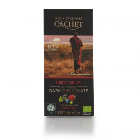 100g Cachet Forest Fruits Chocolate Bar