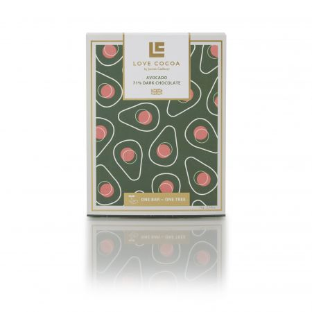 75g Love Cocoa Avocado Dark Chocolate Bar