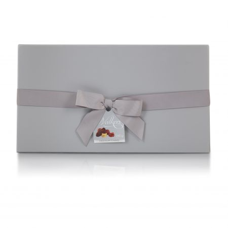 240g Large Silver Walkers Chocolates Rigid Bow Box