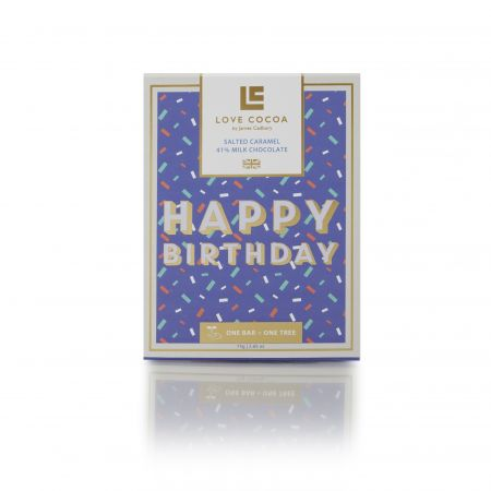 75g Love Cocoa Happy Birthday Chocolate Bar