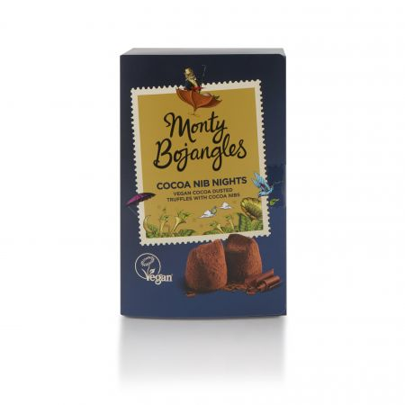 180g Monty Bojangles Vegan Cocoa Dusted Truffles Cocoa Nib Nights