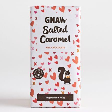 Gnaw Salted Caramel Chocolate Bar, 100g
