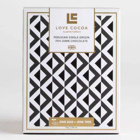 Love Cocoa Dark Peruvian Chocolate Bar (75g)