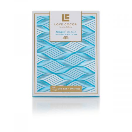 Love Cocoa Maldon Sea Salt Dark Chocolate Bar, 75g