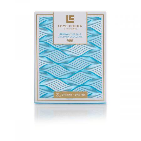 Love Cocoa Maldon Sea Salt Dark Chocolate Bar (75g)