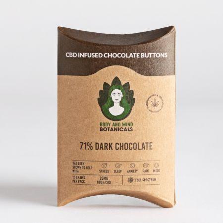 CBD Infused Dark Chocolate Buttons 15g