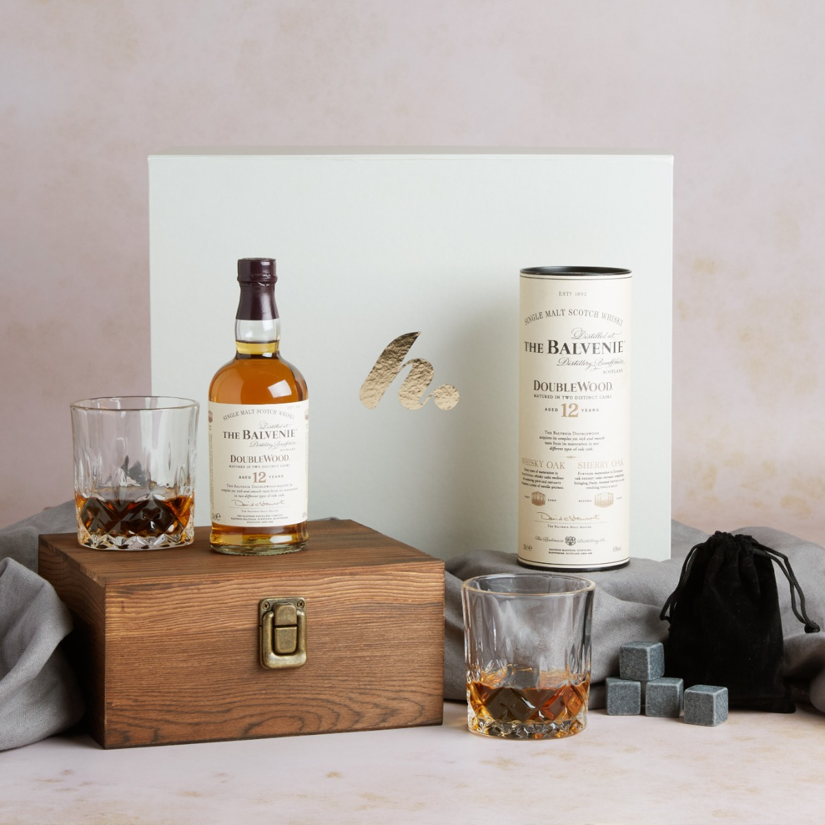 Whisky, Glasses & Whisky Stones Gift Scotch Whisky Hampers Hampers.com